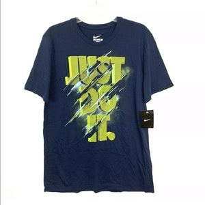 Nike Just Do It Graphic Short Sleeve T-Shirt Large